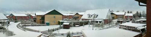 Schnee in Rüdnitz 5. März 2008