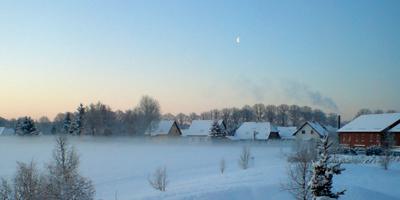 Wintermorgen in Rüdnitz, 17. Februar 2009