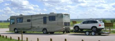 Bild 4: Von den anderswo üblichen Wohnmobilen der amerikanischen Touristen ist am Wounded Knee niemand anzutreffen.
